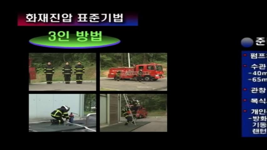 화재진압 표준기법 3인방법
