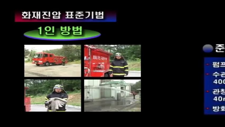 화재진압 표준기법 1인방법